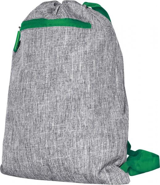 BS15391 Gymsac - Miami Polyester Sportbeutel in Grey Melange