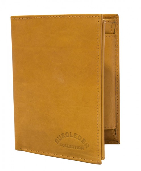 Preiswerte Herren Geldbörse aus Leder Hochformat in Hellbraun TR35