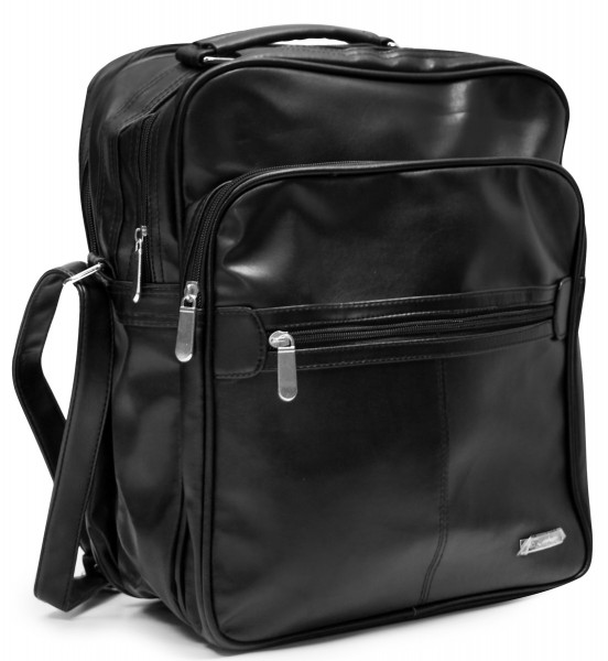 Businesstasche Arbeitstasche Hochformat Schwarz Messengerbag Laptoptasche
