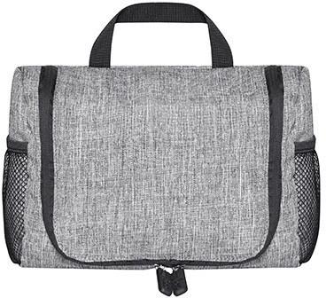 BS15390 Daypack - Wall Street 600D Polyester Rucksack in grau-melange
