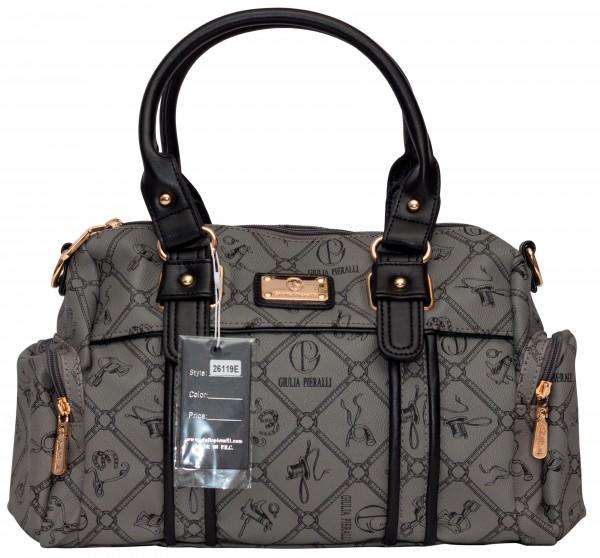 Graue Damen Handtasche Damentaschen Giulia Pieralli 26119E Henkeltasche