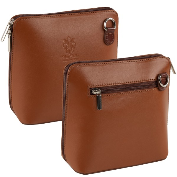 Italienische Damen Handtaschen aus Echtleder Damentasche Henkeltasche Italy Orange