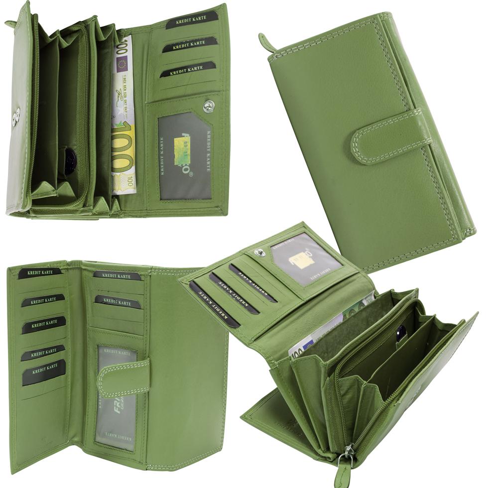 a7064c25d336c ... Vorschau  Damen Geldbörse Leder Lang mit viele Kreditkarten Beidseitig  bedienbar BB11 ...