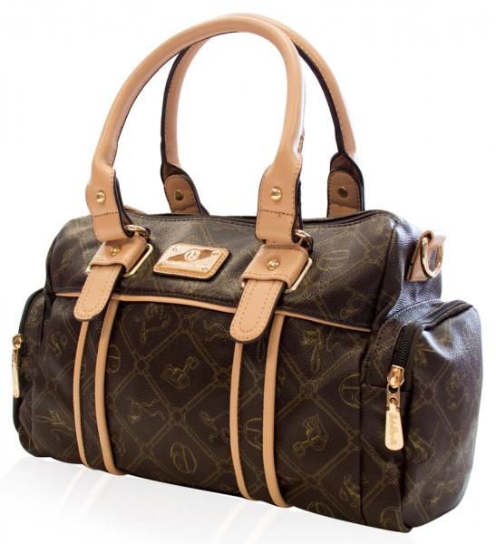 Braune Damen Handtasche Damentaschen Giulia Pieralli 26119E Henkeltasche