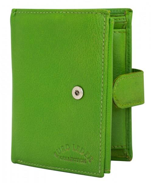 Grüne Preiswerte Herren Geldbörse aus Leder in Hochformat 509 Clippverschluss