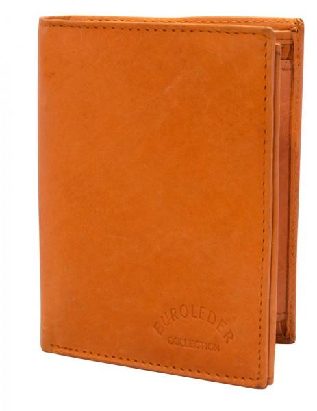 Preiswerte Herren Geldbörse aus Leder Hochformat in Orange TR35