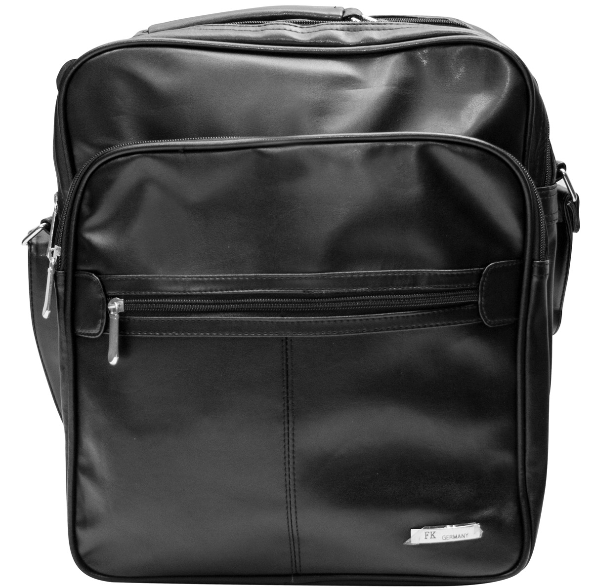 Hochformat Umh/ängetasche Businesstasche Schultertasche Hochformat Notebooktasche Laptoptasche Schwarz Leder Optik Handwerkertasche