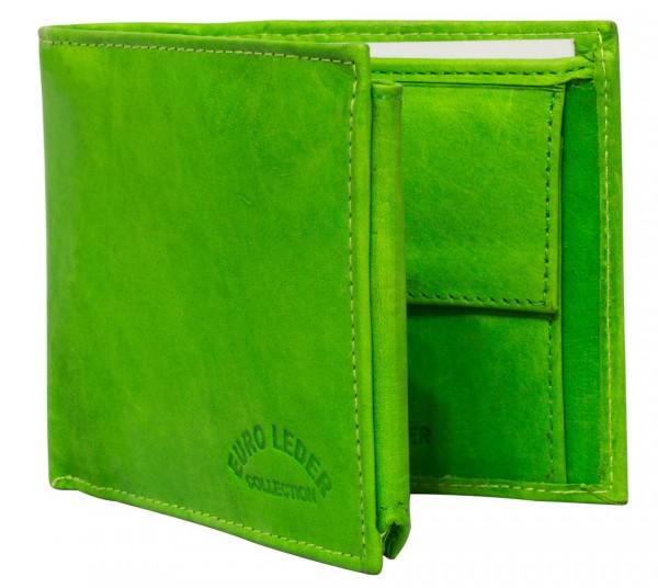 Grüne Preiswerte Herren Geldbörse aus Rind Leder in Querformat Grün