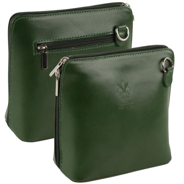 Italienische Damen Handtaschen aus Echtleder Damentasche Henkeltasche Italy Grün