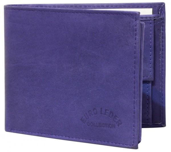 Dunkelblaue Preiswerte Herren Geldbörse aus Rind Leder in Querformat Dunkelblau