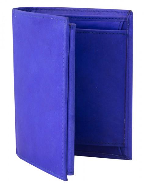 Preiswerte Herren Geldbörse aus Leder Hochformat in Dunkelblau TR35