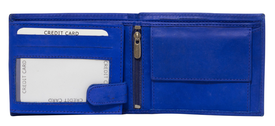 5aa13363bb91c ... Vorschau  Blaue Preiswerte Herren Geldbörse aus Rind Leder in  Querformat Blau ...