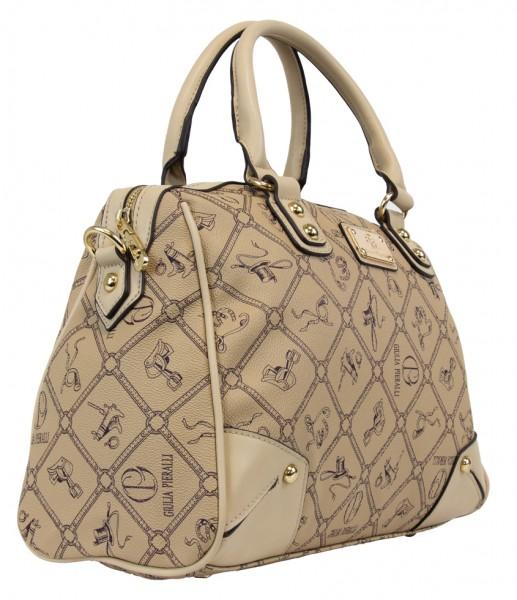 Giulia Pieralli Damen Handtasche Damentasche 2622B in Khaki Karamell