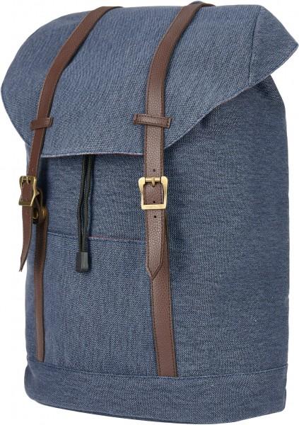 BS16488 Daypack – Cornwall Blauer Canvas-Rucksack im Vintage-Look
