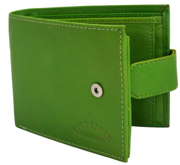 Grüne Preiswerte Herren Geldbörse aus Leder in Querformat 510 Clippverschluss