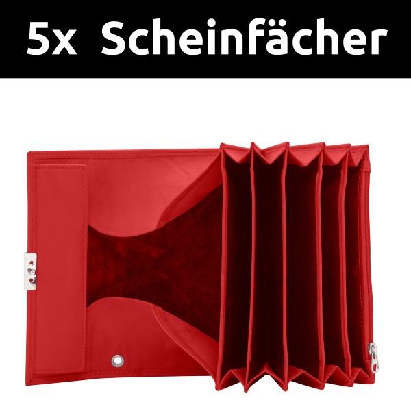 Rote Kellnerportemonnaie aus Leder Kellnertasche Bedienungsgeldbeutel Kellnerbörsen