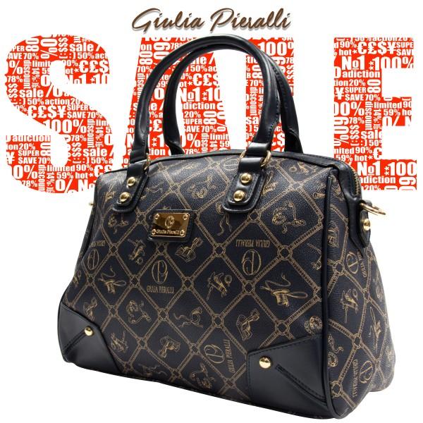 Giulia Pieralli Damen Handtasche Damentasche 2622B in Schwarz