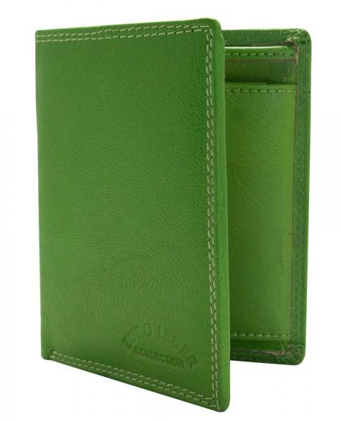Preiswerte Leder Geldbörse Portemonnaie Brieftasche Grün Hochformat 192