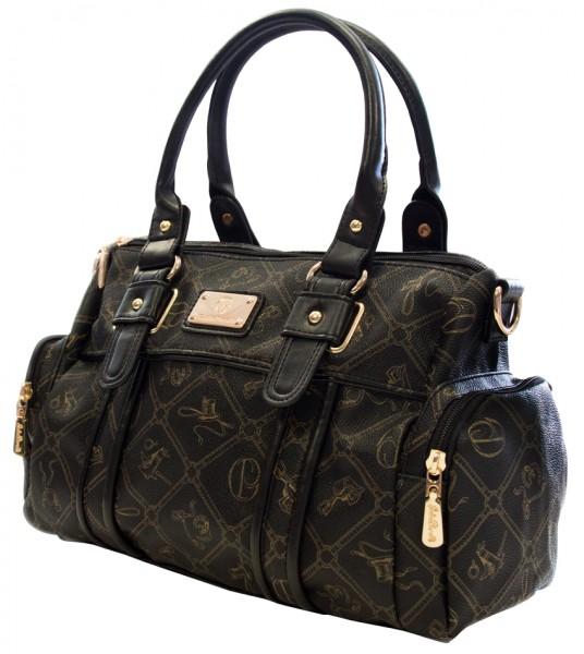 Schwarze Damen Handtasche Damentaschen Giulia Pieralli 26119E Henkeltasche