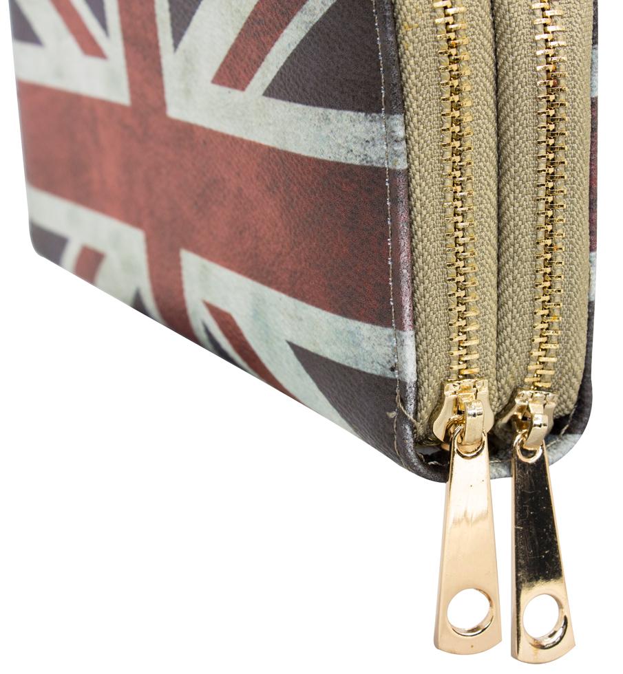 a3457238cd363 ... Doppelreißverschluss · Vorschau  Damen Geldbörse bedruckt mit Britische  Flagge Kunstleder Doppelreißverschluss ...