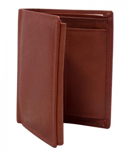Preiswerte Herren Geldbörse aus Leder Hochformat in Weinrot TR35