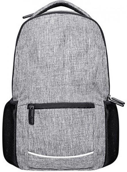 BS15380 Daypack – Wall Street 600D Polyester Rucksack in Grey Melange
