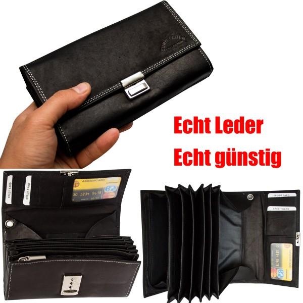 Kellnerbörse Schwarz aus Leder Kellner Taxi Kellnerportemonnaie DA24