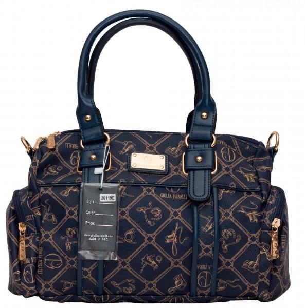 Blaue Damen Handtasche Damentaschen Giulia Pieralli 26119E Henkeltasche